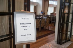 The folks from Pinkerton Tobacco have their kickoff dinner at the Osteria Pronto restaurant at the JW Mariott Indianapolis on May 27th 2017